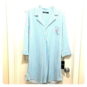 LAUREN RALPH LAUREN PAJAMA SHIRT DRESS XL